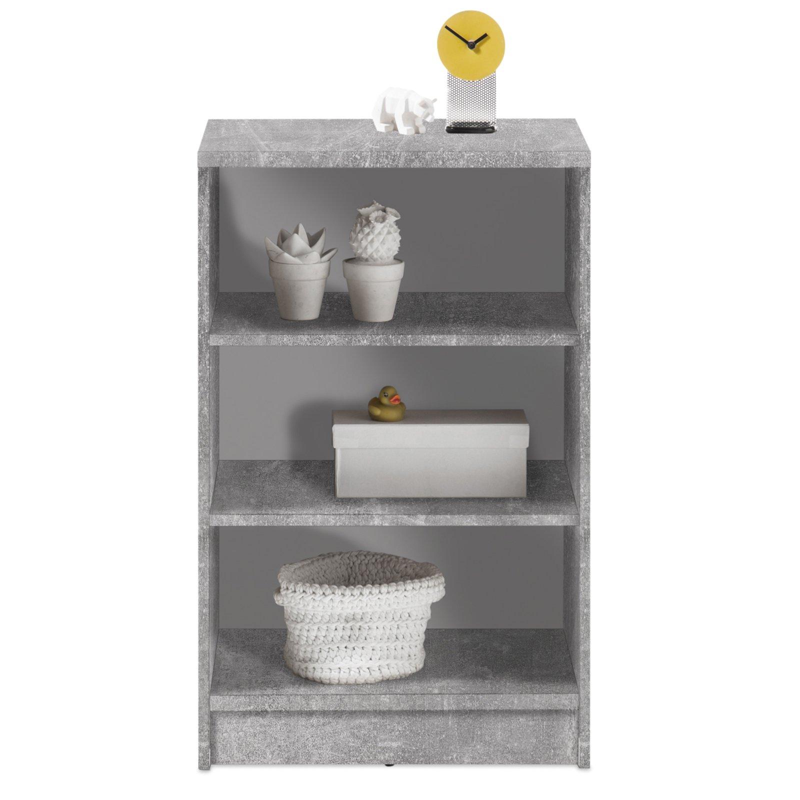 regal optimus - beton-weiß - 2 einlegeböden - 54 cm breit