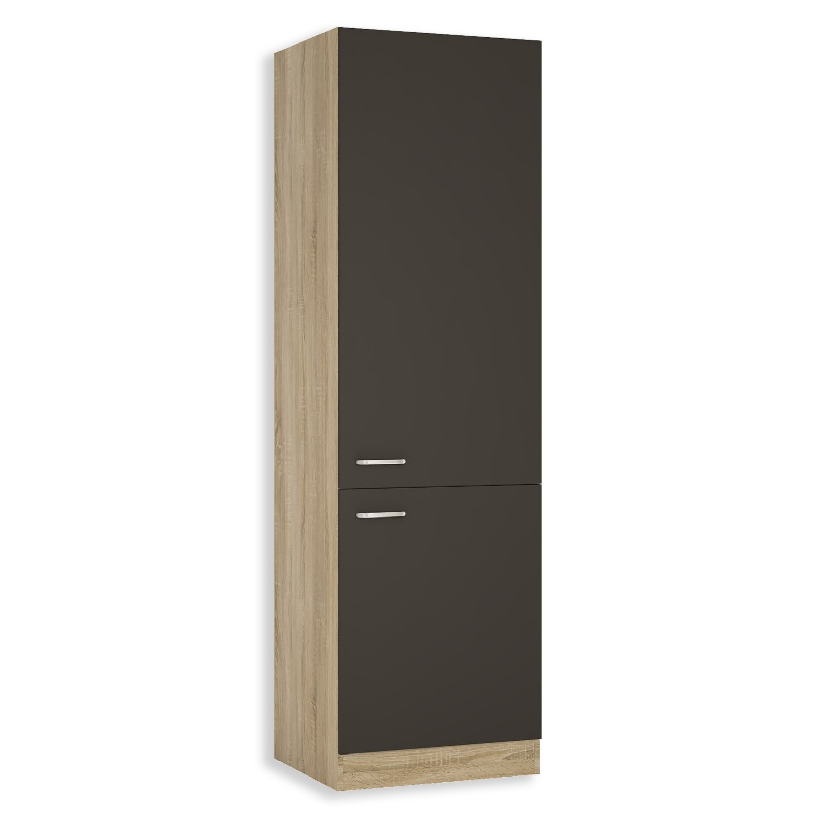 hochschrank fox anthrazit sonoma eiche 60 cm breit hochschr nke einzelschr nke. Black Bedroom Furniture Sets. Home Design Ideas