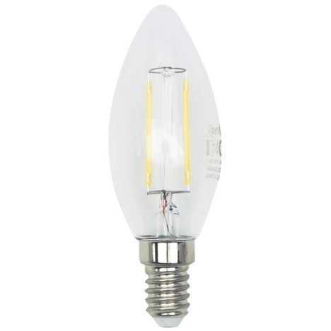 LED-Kerzenlampe Filament LIGHTME - E14 - 2,5 Watt - warmweiß