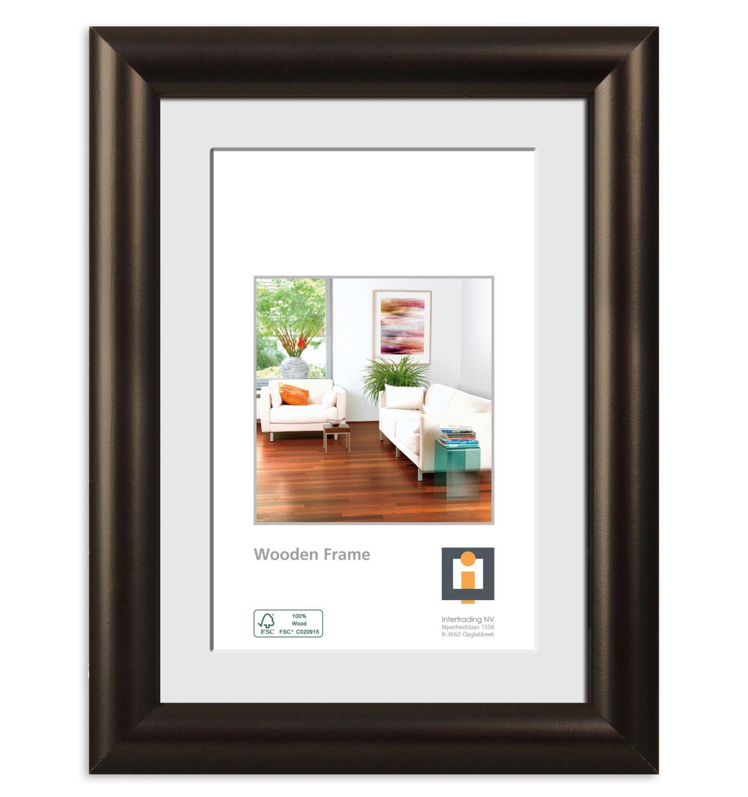 bilderrahmen paris schwarz holz 13x18 cm bilderrahmen deko artikel deko haushalt. Black Bedroom Furniture Sets. Home Design Ideas