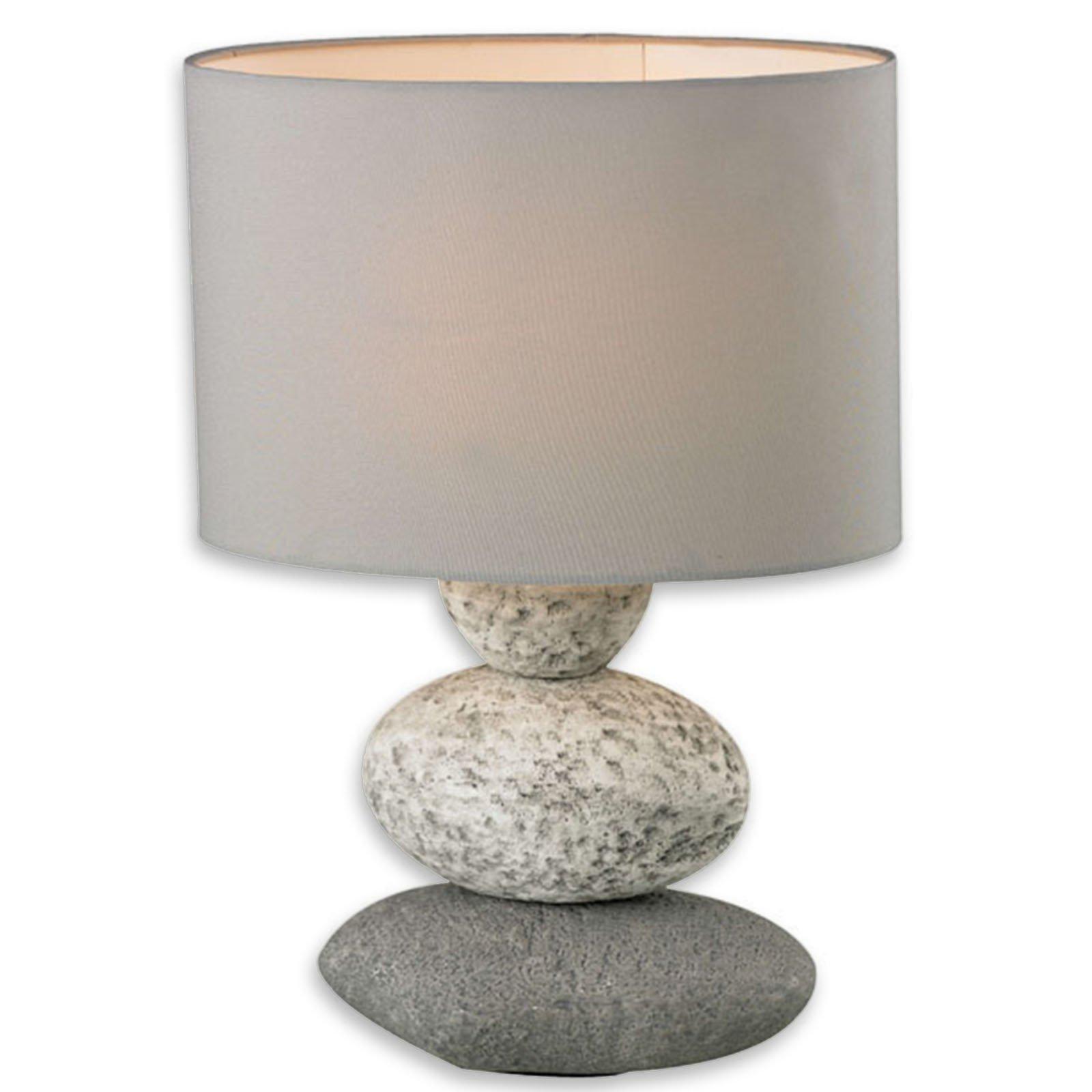 tischleuchte wendy grau keramik 34 5 cm tischlampen lampen roller m belhaus. Black Bedroom Furniture Sets. Home Design Ideas