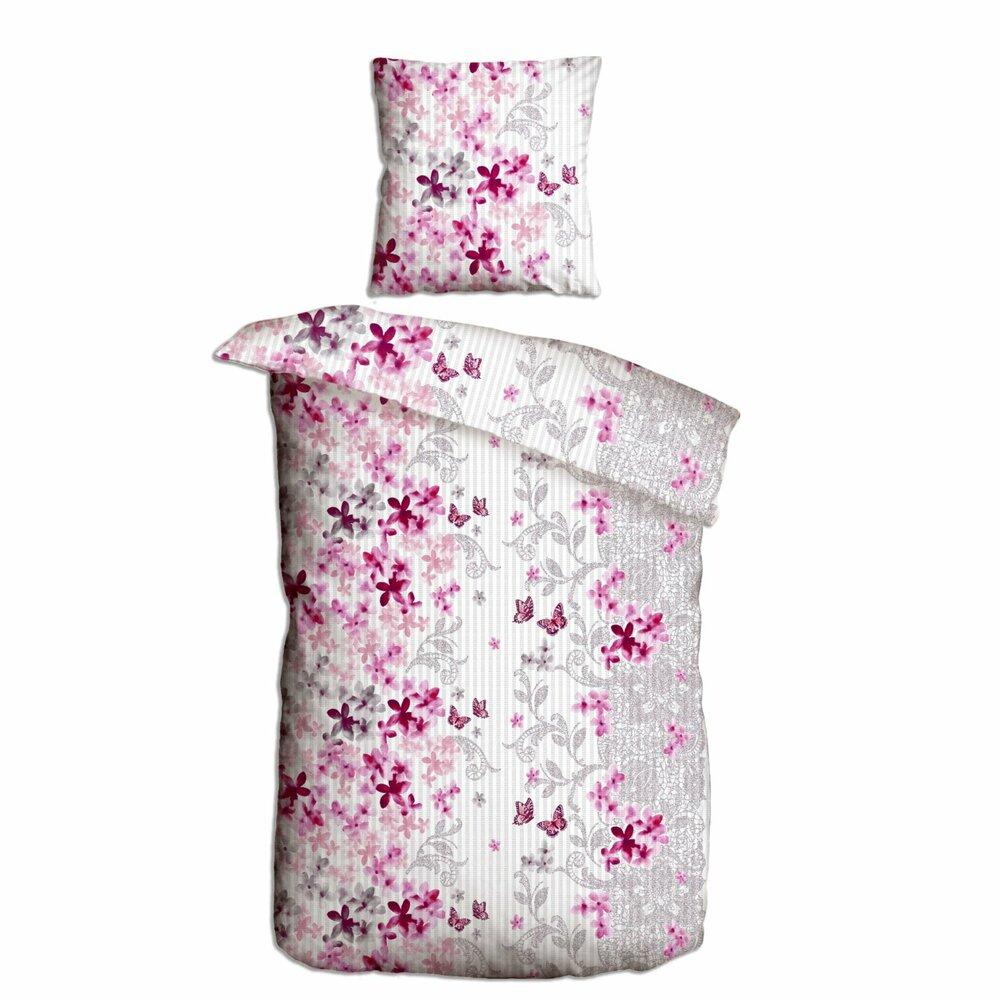 baumwoll seersucker bettw sche spring rose pink 155x220 cm bettw sche bettw sche. Black Bedroom Furniture Sets. Home Design Ideas