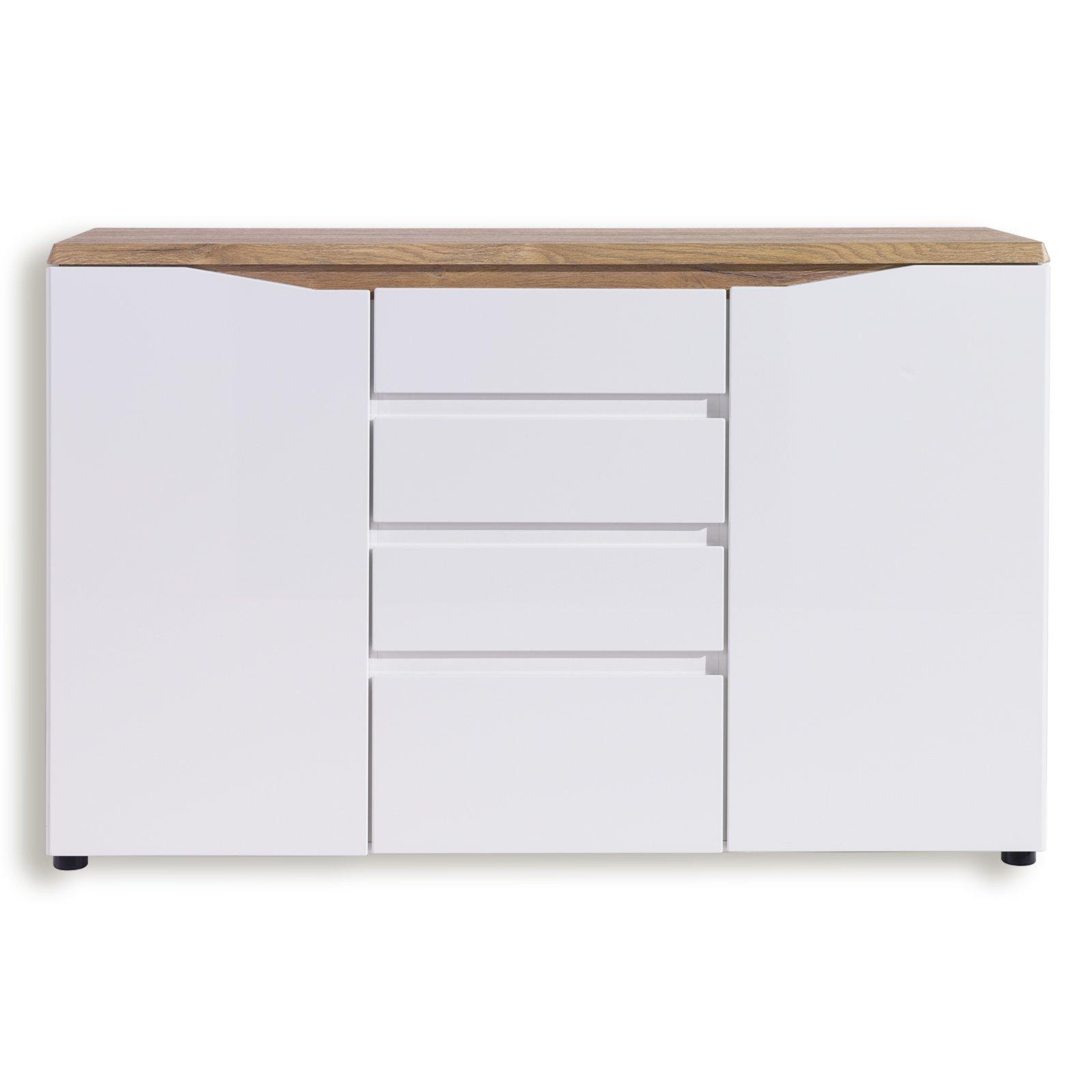 kommode malaga wei alteiche 140 cm kommoden sideboards m bel roller m belhaus. Black Bedroom Furniture Sets. Home Design Ideas