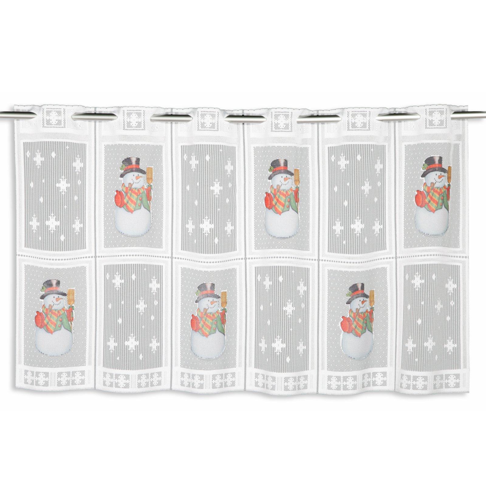 scheibengardine weihnachten schnee 45x130 cm. Black Bedroom Furniture Sets. Home Design Ideas
