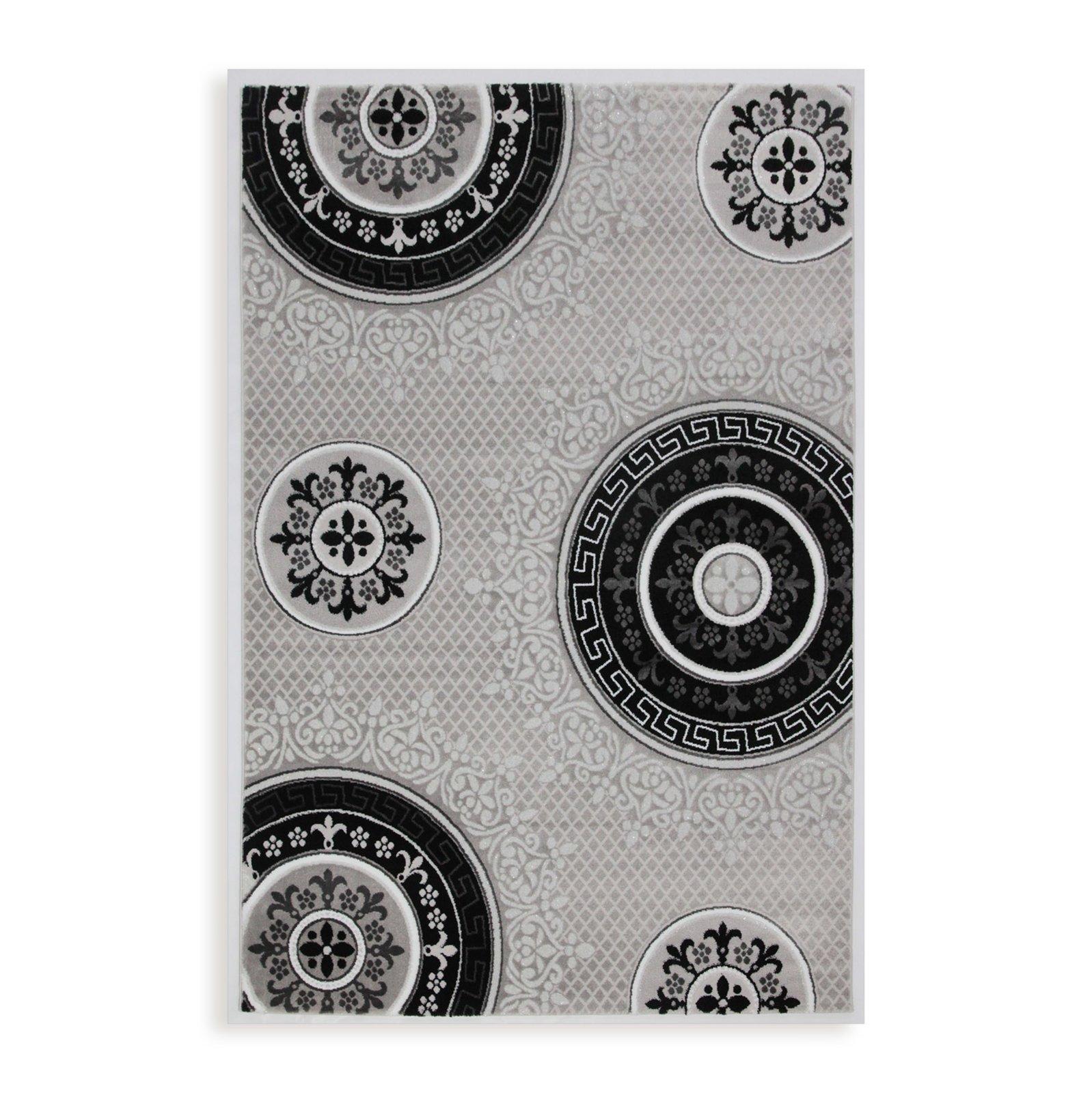 Teppich ELEYSA  silber  80×150 cm  Gemusterte Teppiche
