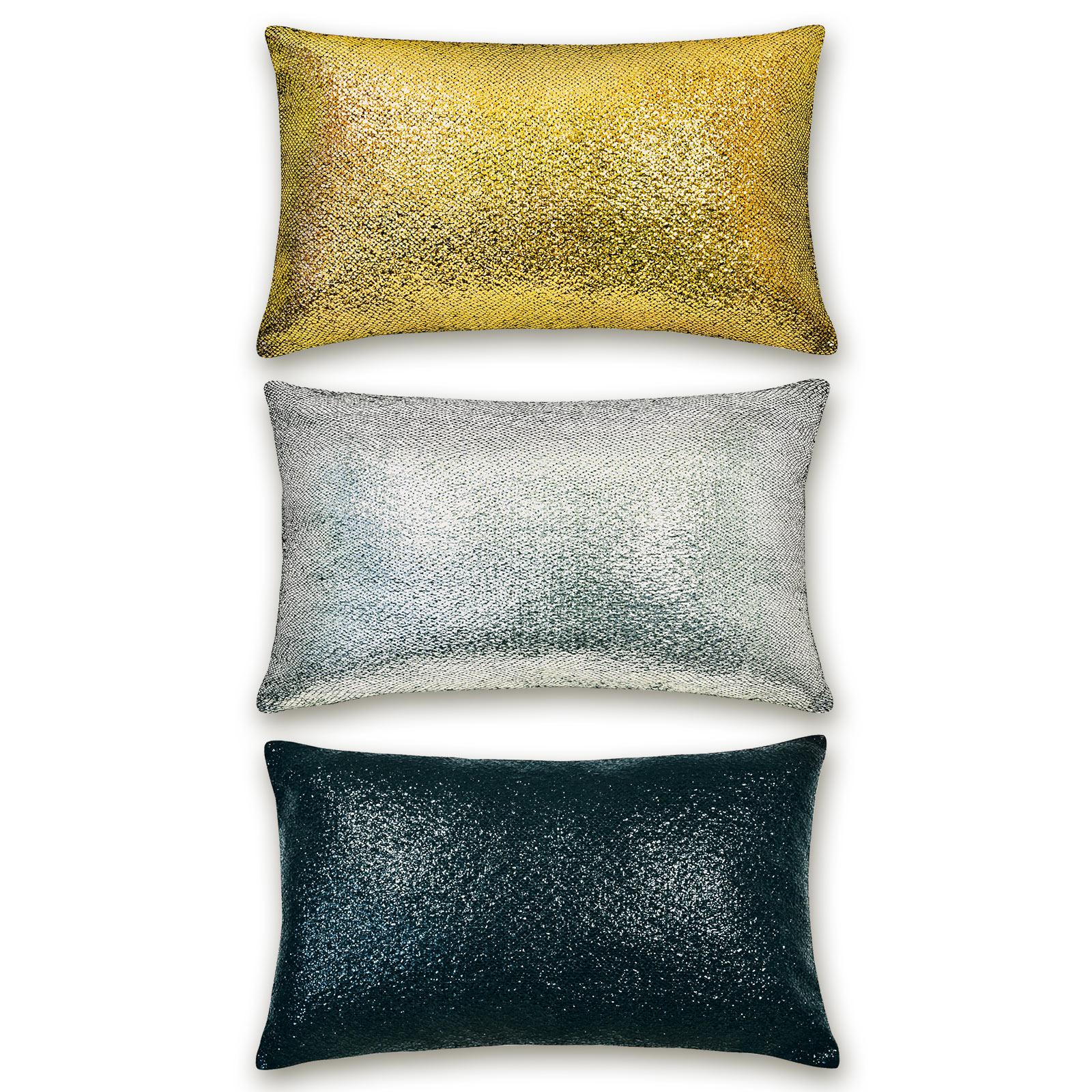 Roller Kissen.Kissen Metallic Sortierte Farben 50 Cm