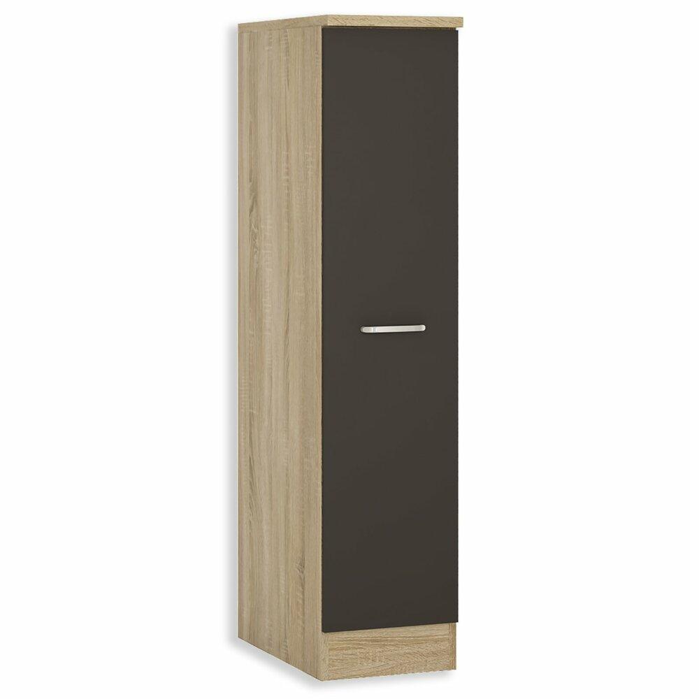 apothekerschrank fox anthrazit sonoma eiche 30 cm breit k che fox schrankserien. Black Bedroom Furniture Sets. Home Design Ideas