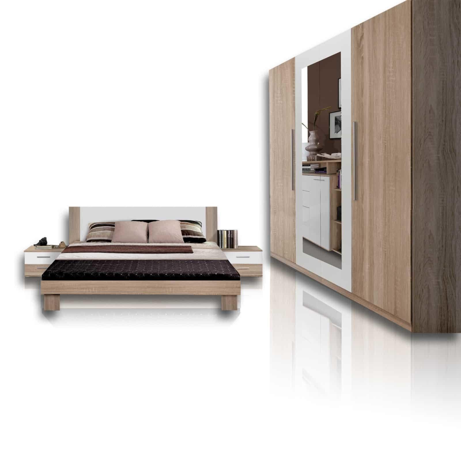 Superior Schlafzimmer Komplett Roller #11: Schlafzimmer HELEN - 4-teilig - Eiche Sonoma