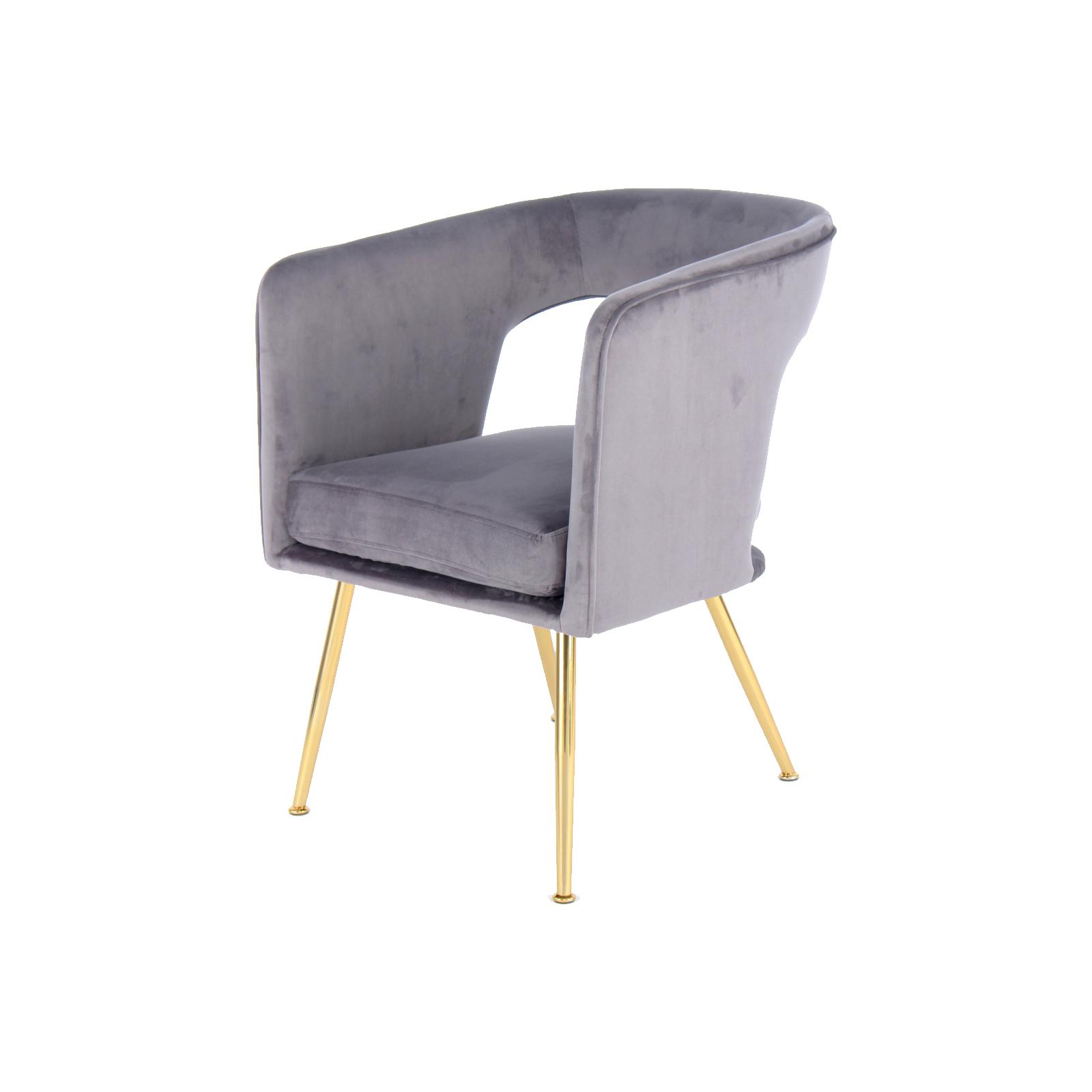Schau Mal Was Ich Bei Roller Gefunden Habe Stuhl Jolene 125 Grau Gold Samtweich