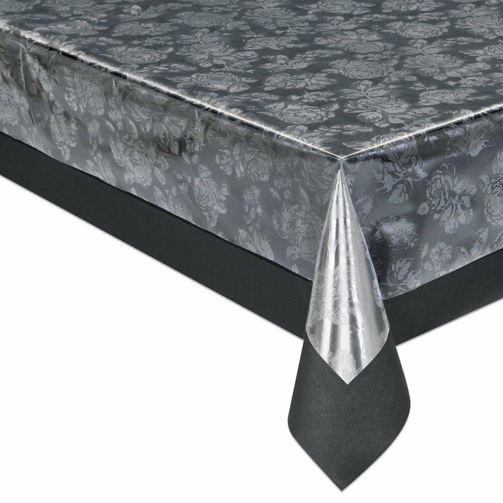 tischfolie silber transparent gepr gt pvc meterware tischdecken tischl ufer. Black Bedroom Furniture Sets. Home Design Ideas