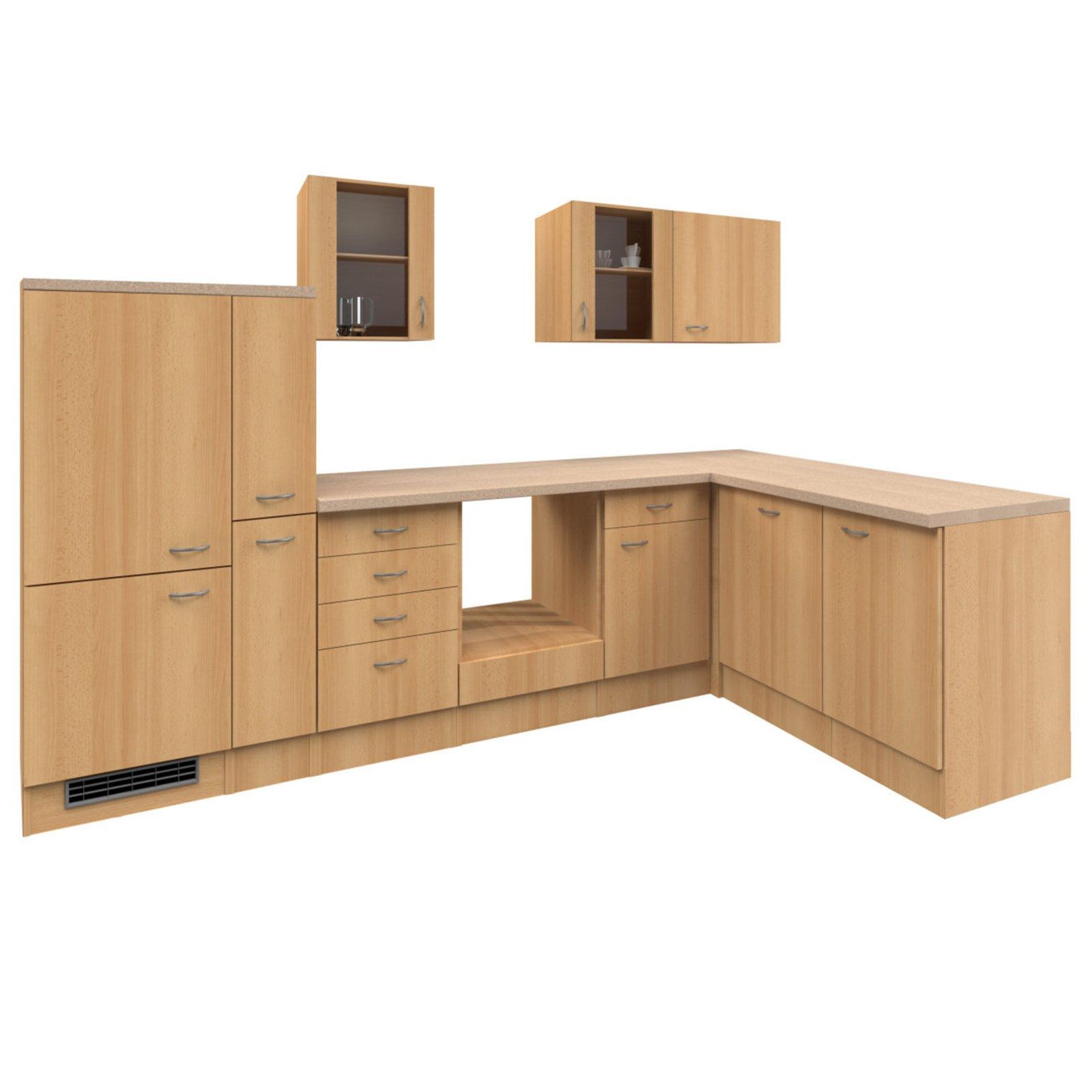 winkelk che nano buche 310x170 cm winkelk chen ohne. Black Bedroom Furniture Sets. Home Design Ideas