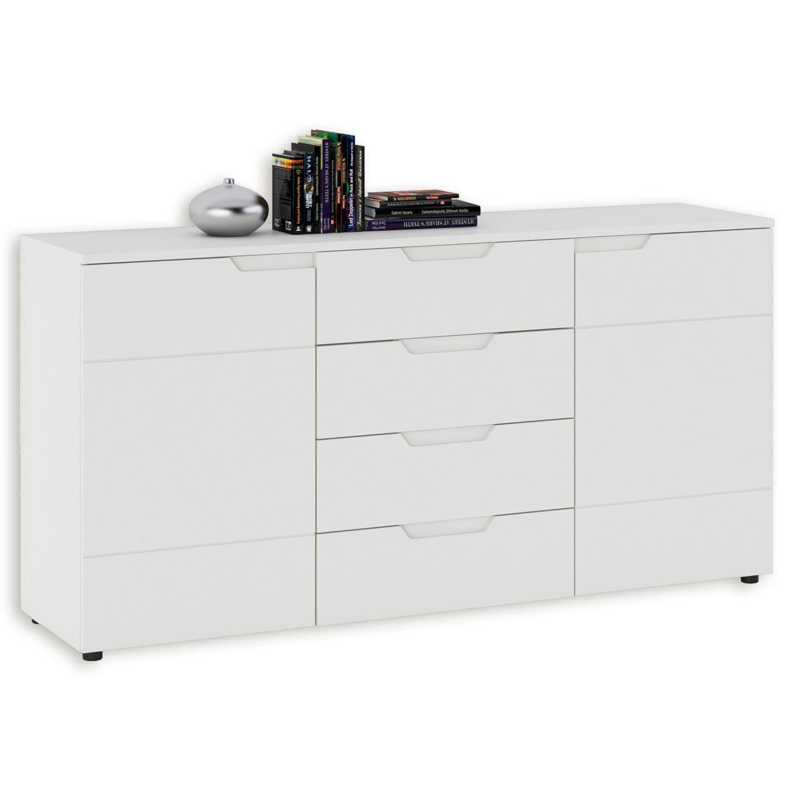 sideboard hilton wei hochglanz 4 schubk sten. Black Bedroom Furniture Sets. Home Design Ideas