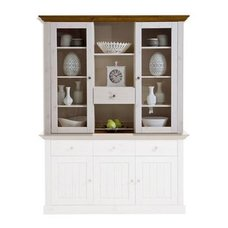 Sideboard-Aufsatz MONACO - white wash - Kiefer massiv