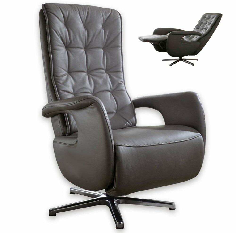 leder relaxsessel anthrazit mit funktionenangebot bei. Black Bedroom Furniture Sets. Home Design Ideas