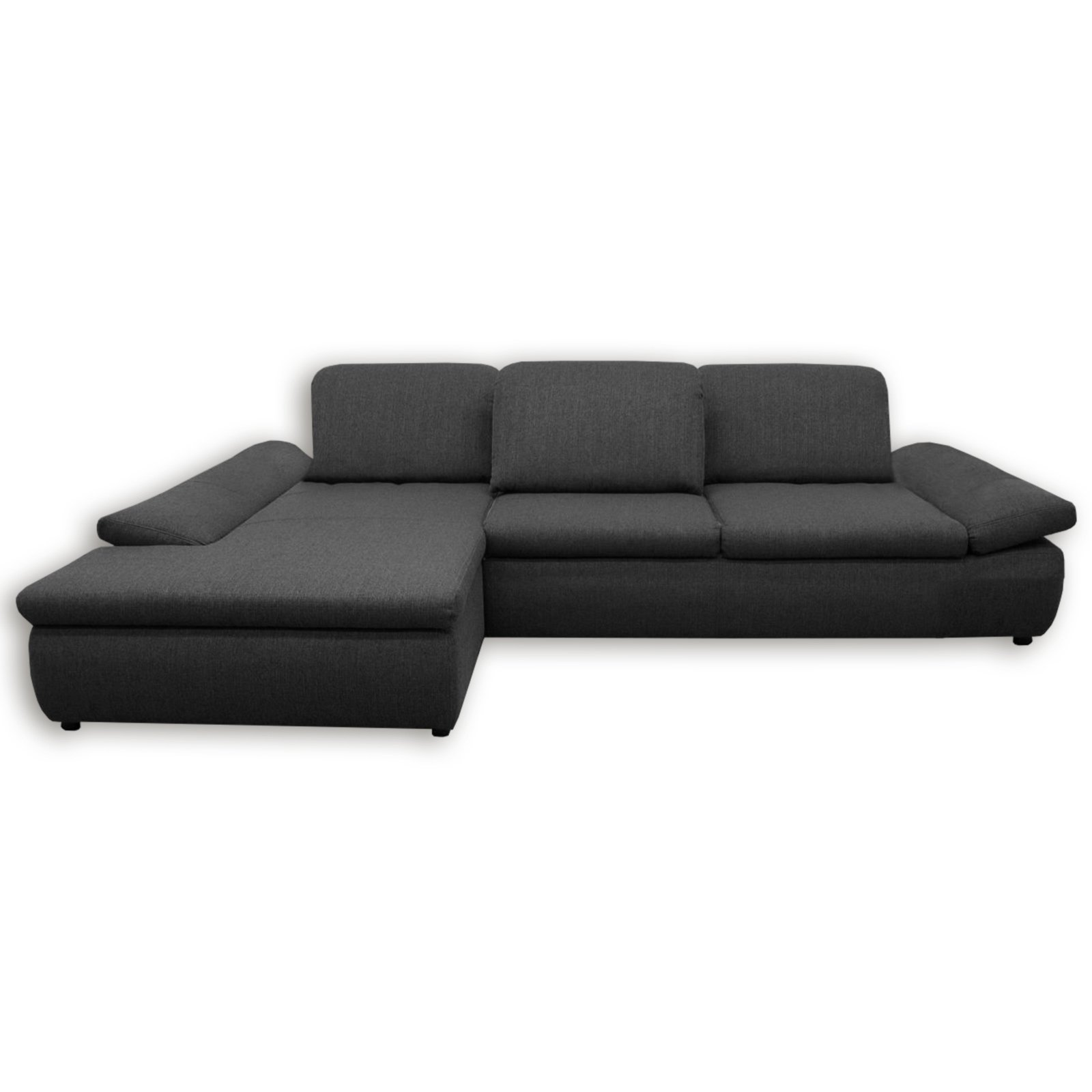 ecksofa dunkelgrau mit funktionen recamiere links ecksofas l form sofas couches. Black Bedroom Furniture Sets. Home Design Ideas
