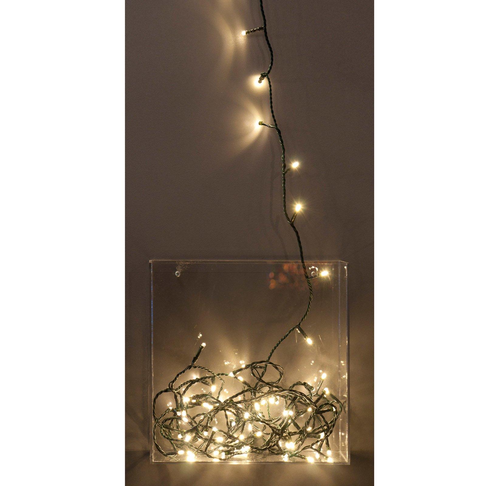 LED-Lichterkette - warmweiß - 16,5 Meter