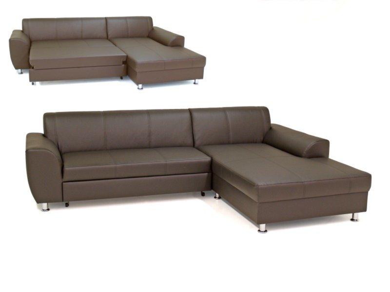 ecksofa dunkelbraun recamiere rechts liegefunktion ecksofas l form sofas couches. Black Bedroom Furniture Sets. Home Design Ideas