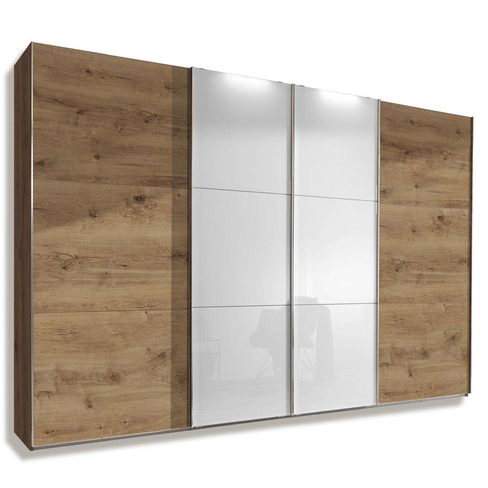 schwebet renschrank escape plankeneiche wei glas 300 cm schwebet renschr nke. Black Bedroom Furniture Sets. Home Design Ideas