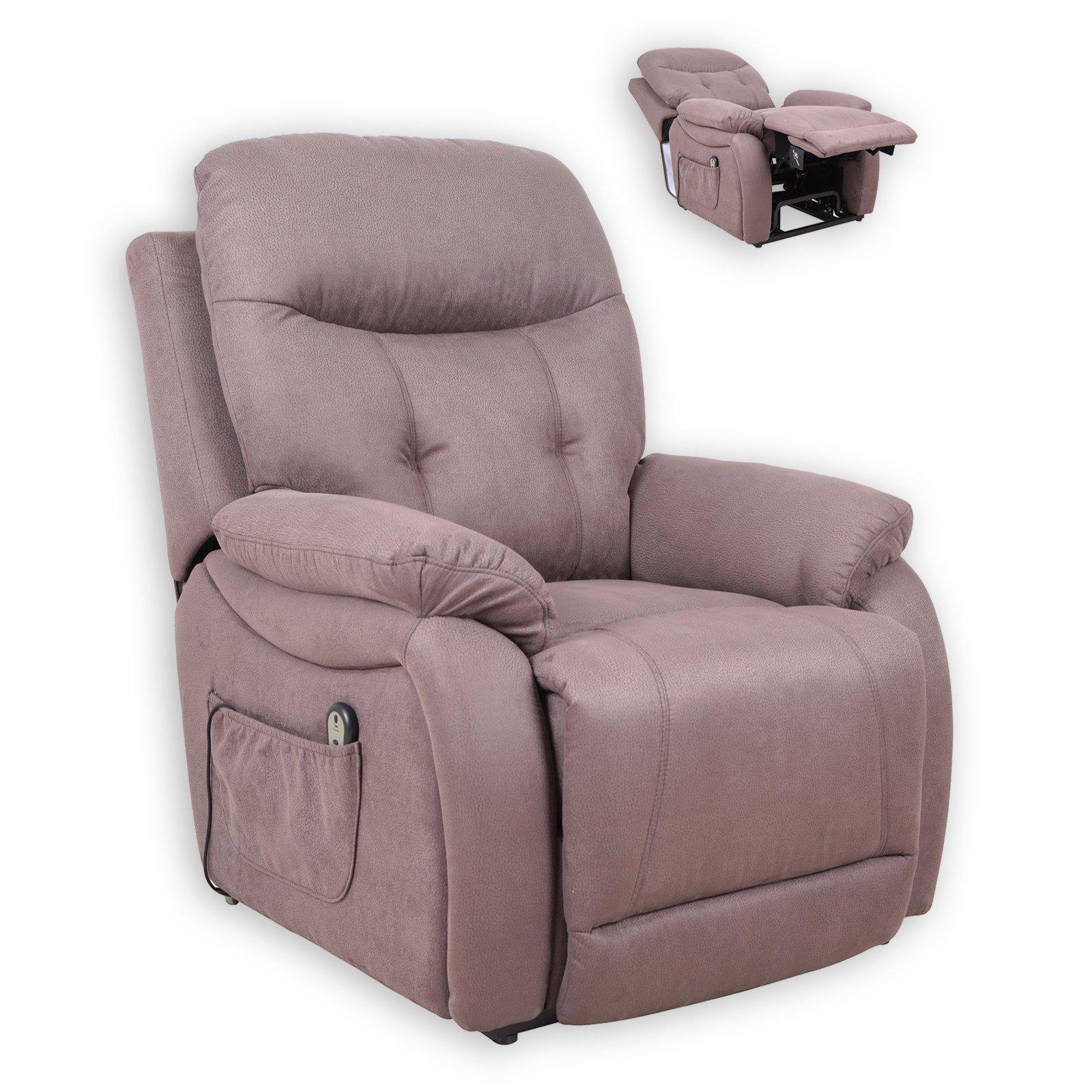 tv sessel braun mit aufstehhilfe fernseh relaxsessel sessel hocker m bel roller. Black Bedroom Furniture Sets. Home Design Ideas