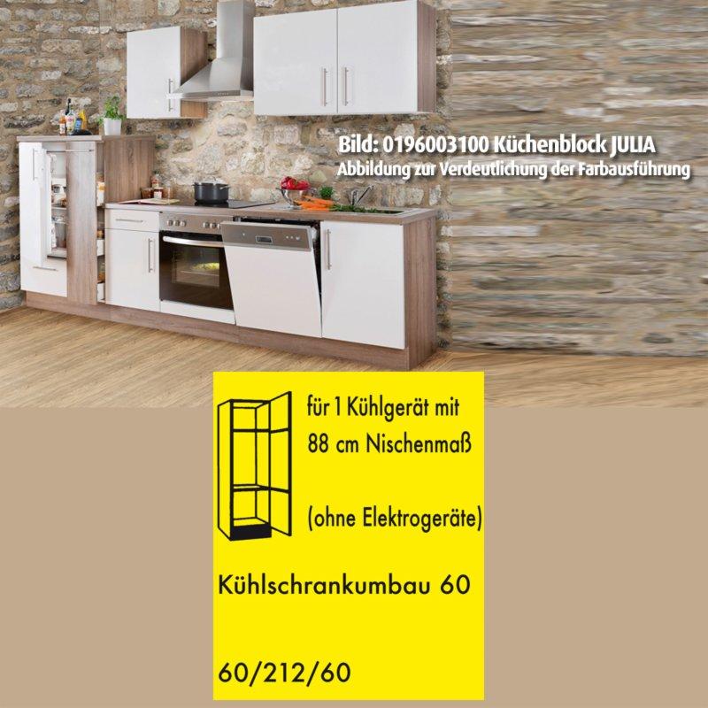 k hlschrankumbau julia wei hochglanz tr ffel 60 cm ebay. Black Bedroom Furniture Sets. Home Design Ideas