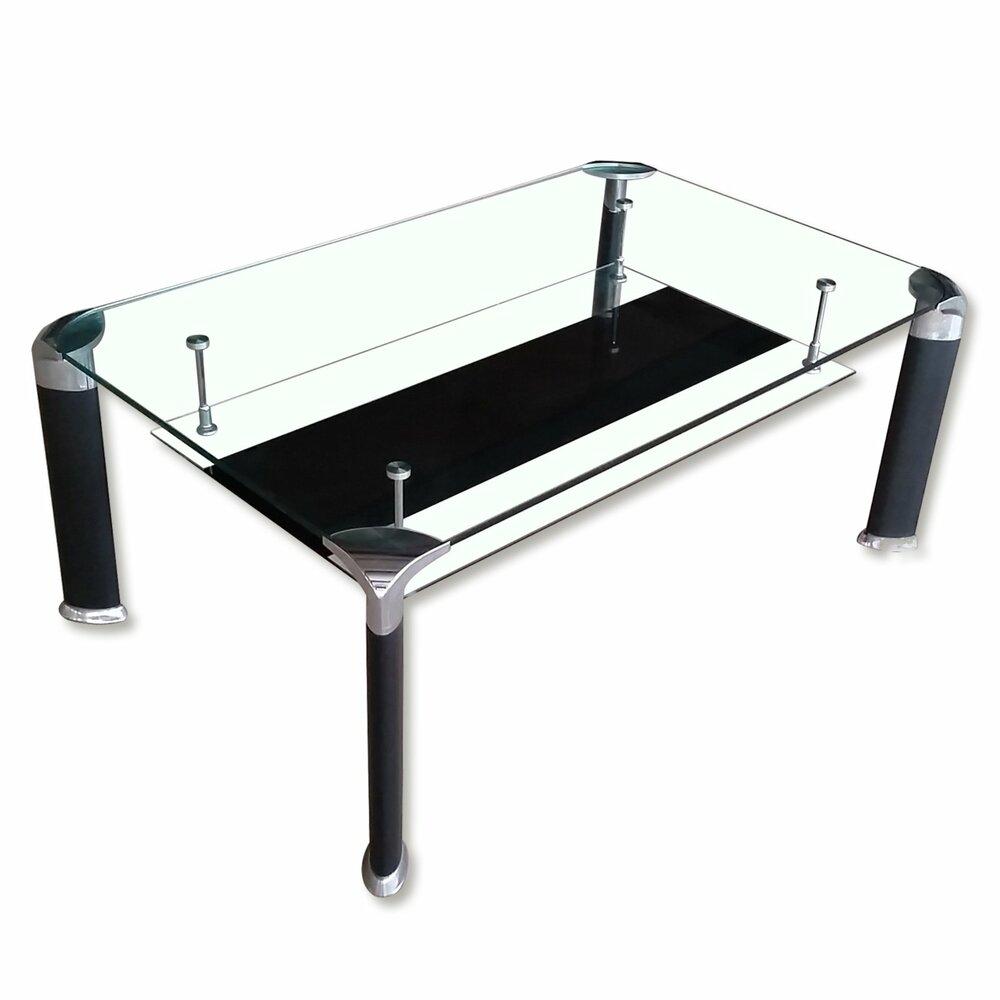 couchtisch david sicherheitsglas schwarz silberangebot. Black Bedroom Furniture Sets. Home Design Ideas