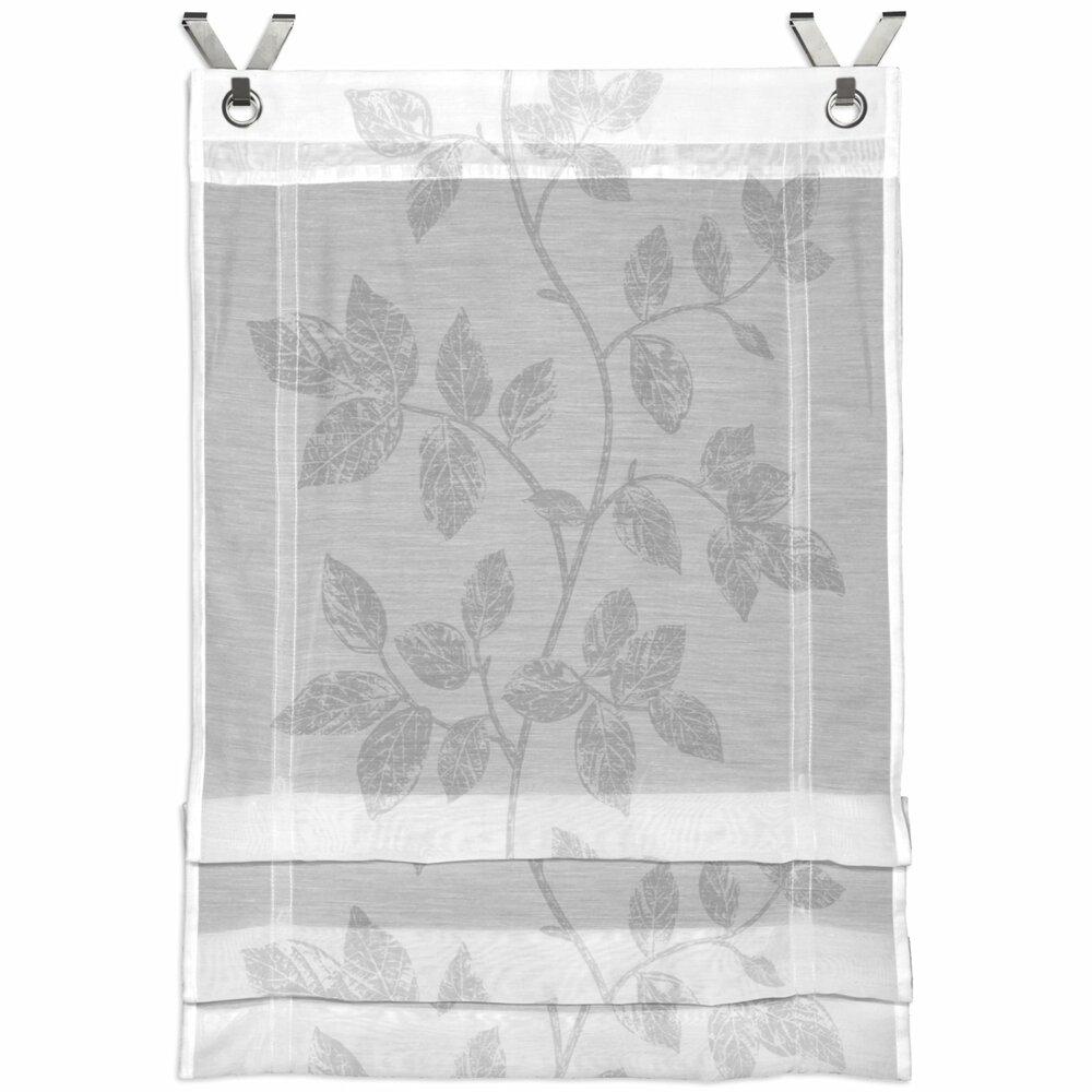 klipprollo alaska wei silber mit sen 60x120 cm transparente raffrollos raffrollos. Black Bedroom Furniture Sets. Home Design Ideas