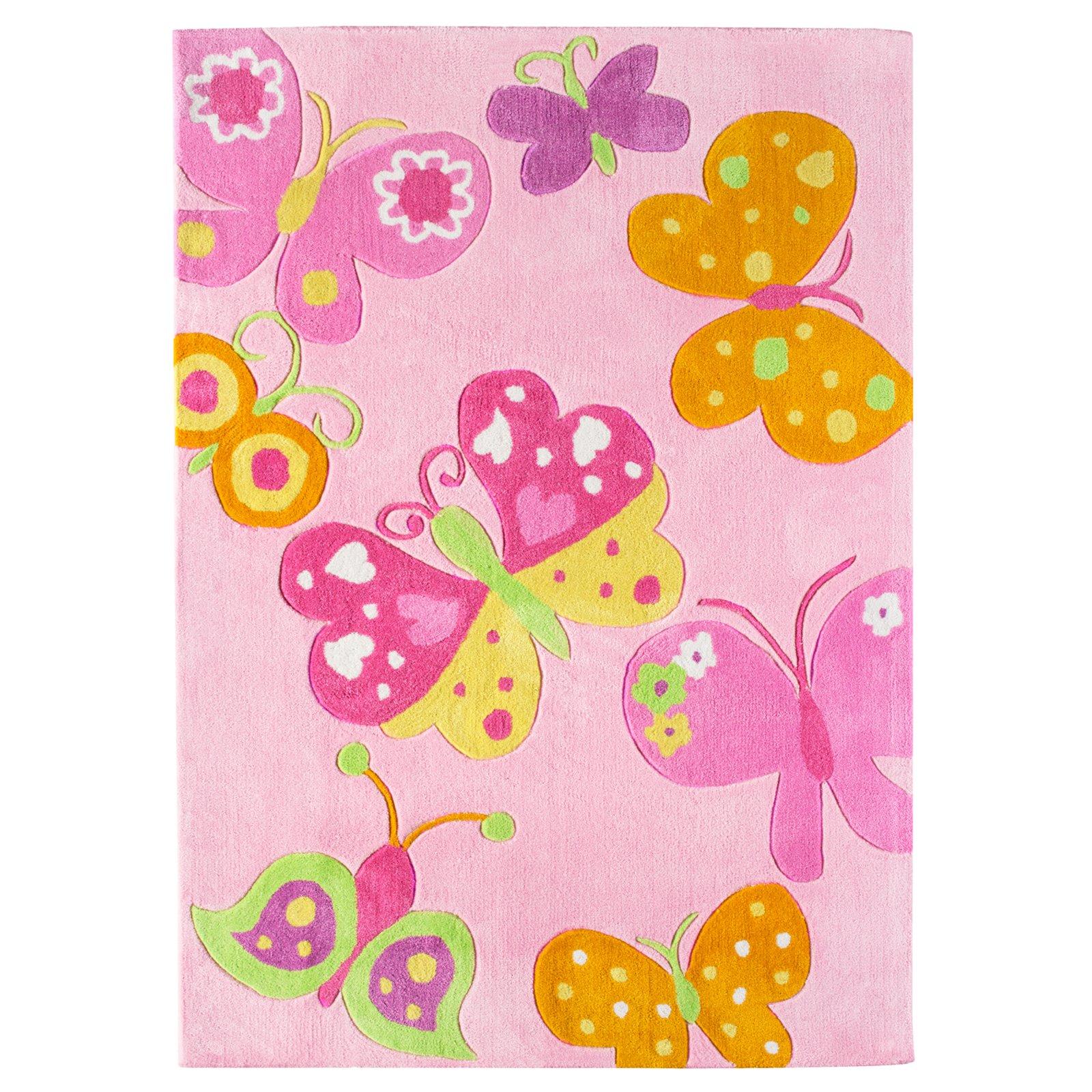teppich butterfly rosa 160x230 cm gemusterte. Black Bedroom Furniture Sets. Home Design Ideas