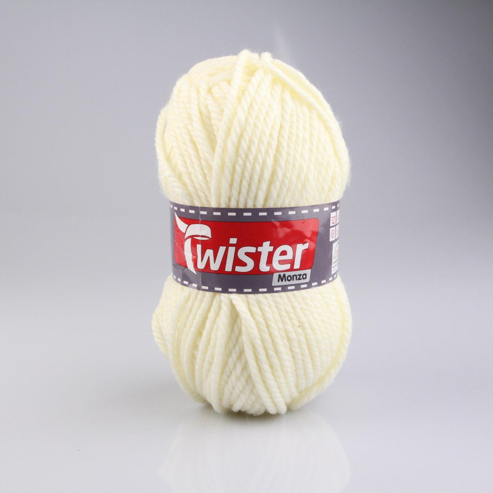 Wolle TWISTER MONZA - wollweiß - 200g