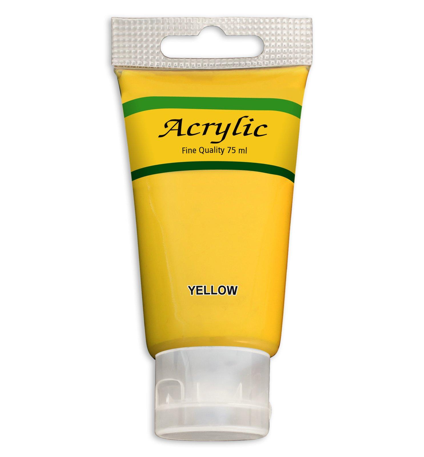Acrylfarbe - gelb - 75 ml