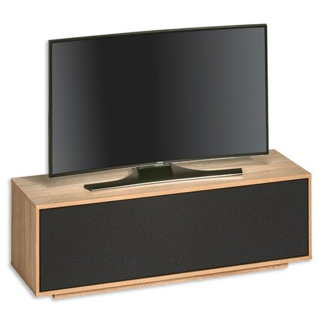 tv lowboard sonoma eiche akustik stoff 134 cm breit. Black Bedroom Furniture Sets. Home Design Ideas