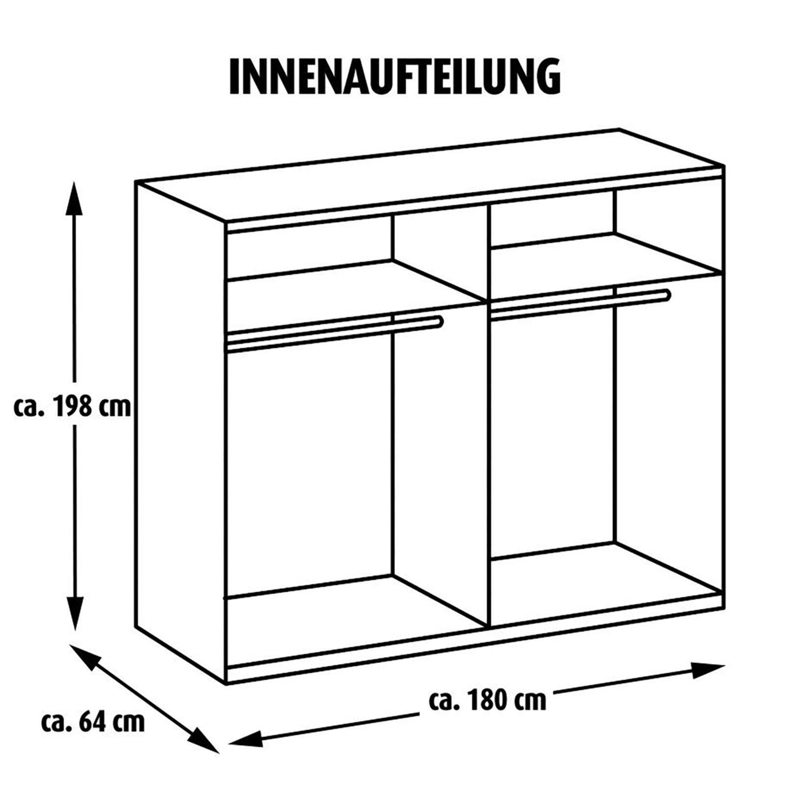 schwebet renschrank queen alpinwei 180 cm breit ebay. Black Bedroom Furniture Sets. Home Design Ideas