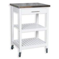 Küchenwagen AMALIA   Weiß   Kiefer Massiv