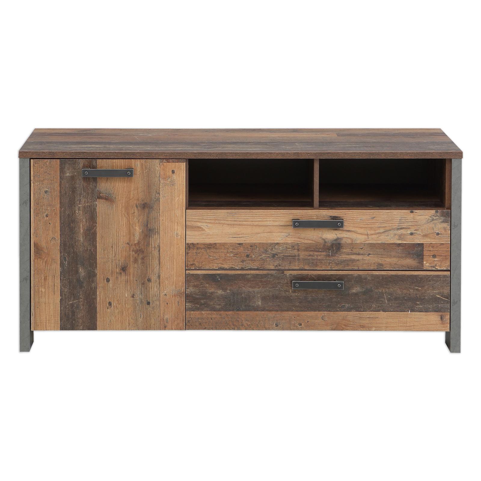 Wohnwand Set - Old Wood Vintage - 4-teilig