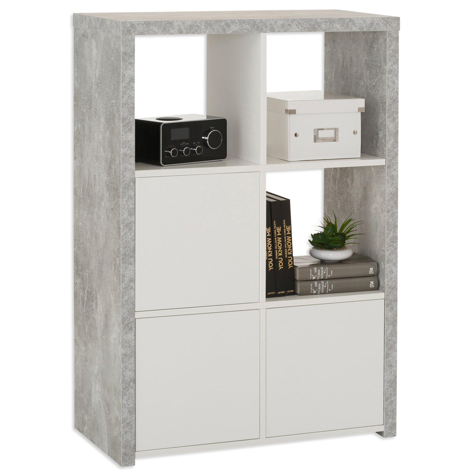 Regal MARTA - Beton-weiß - 3x2 Fächer | eBay