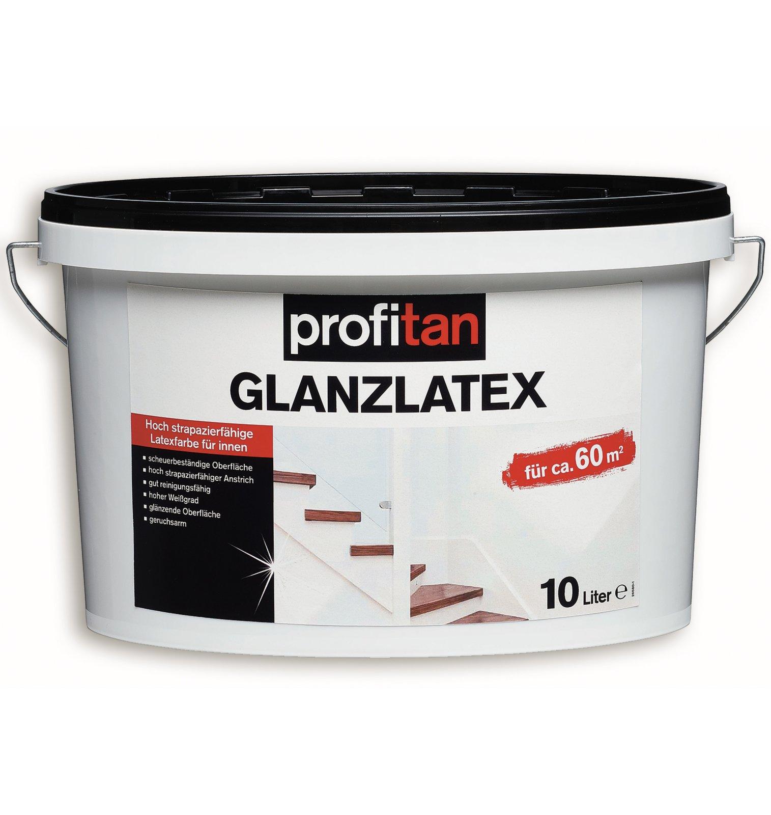 glanz latexfarbe profitan wei f r innen 10 liter spezialfarben farben lacke. Black Bedroom Furniture Sets. Home Design Ideas