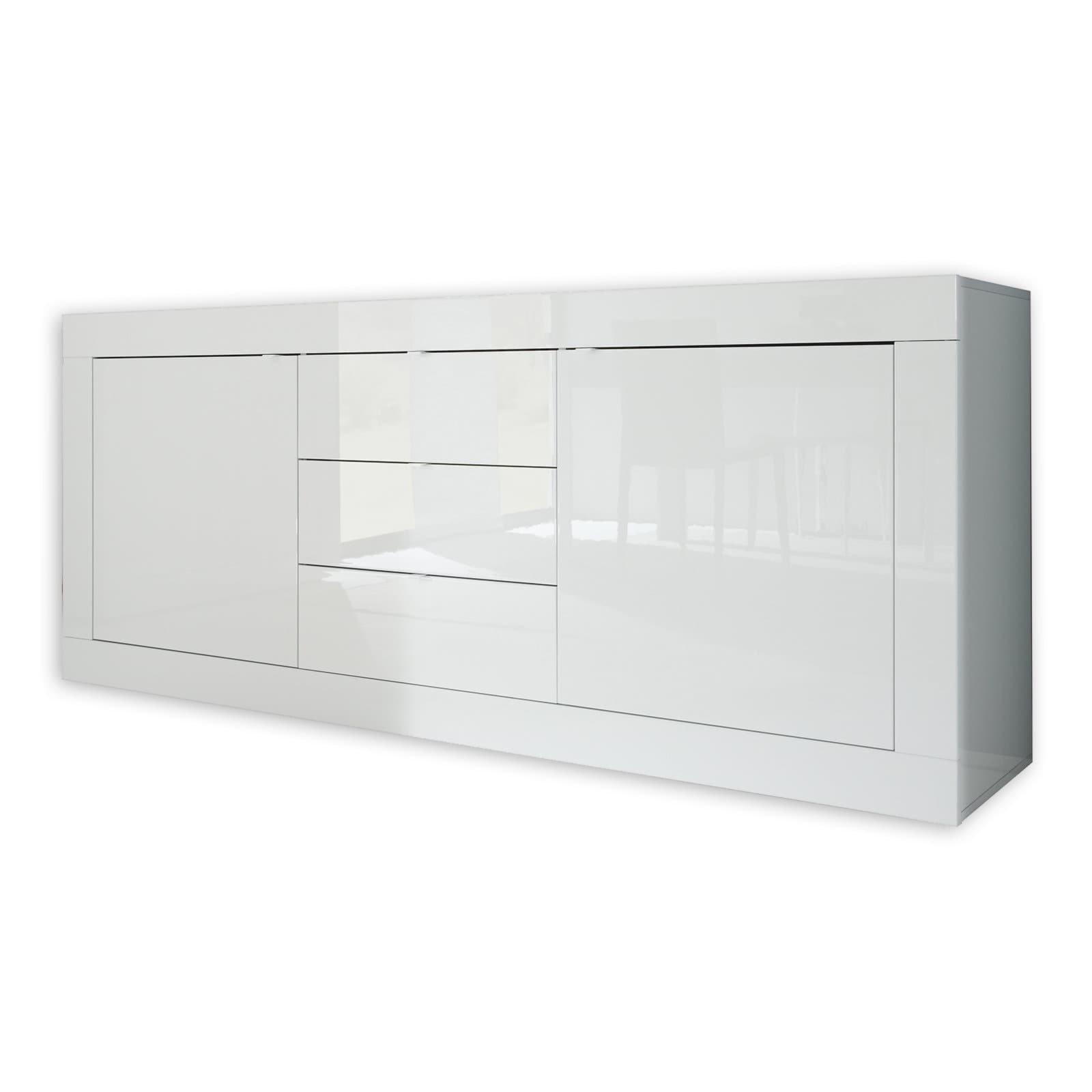 Gewaltig Hochglanz Sideboard Weiß Sammlung Von Basic - Weiß - 210 Cm Breit