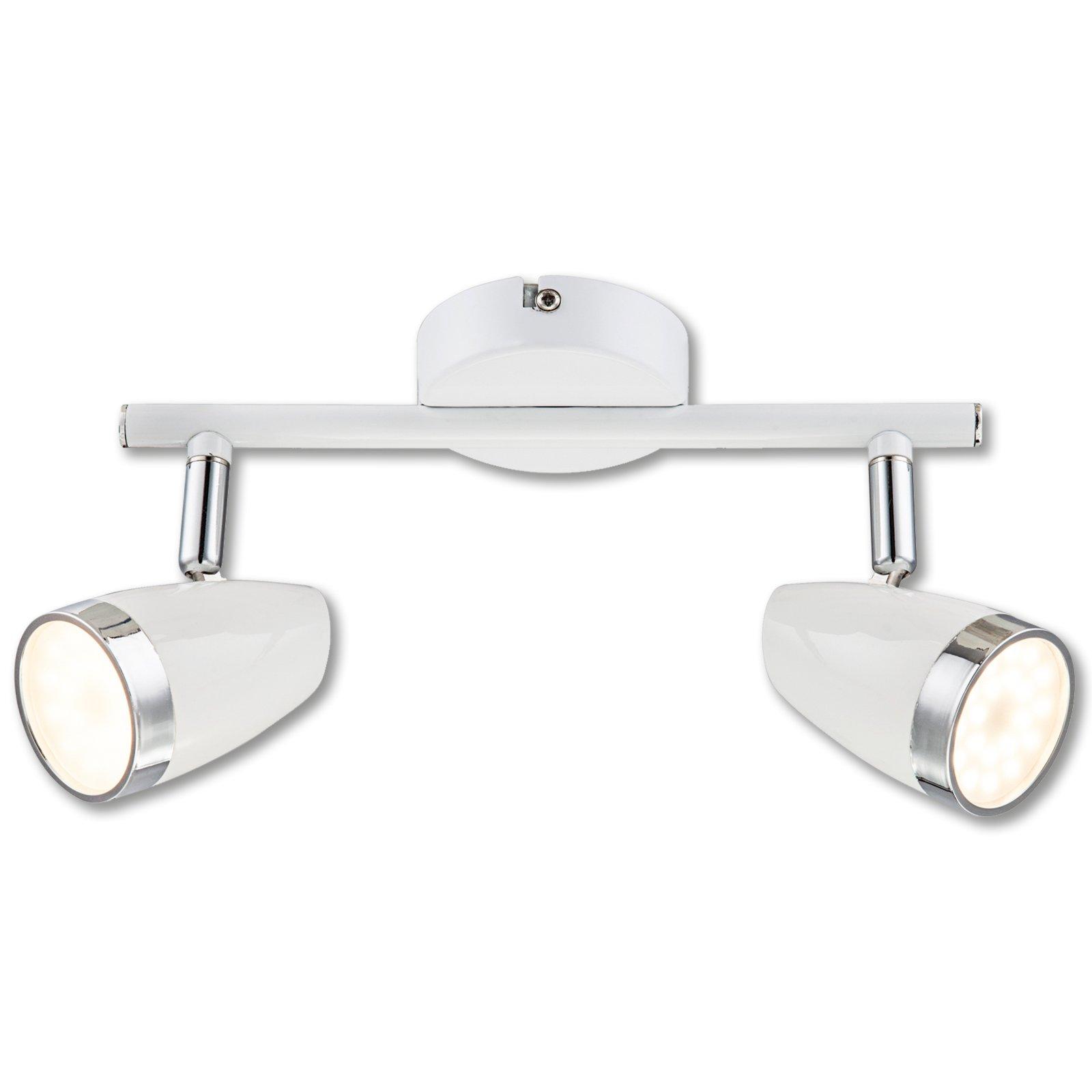 led spotschiene dana wei chrom 2 flammig led deckenleuchten deckenleuchten lampen. Black Bedroom Furniture Sets. Home Design Ideas