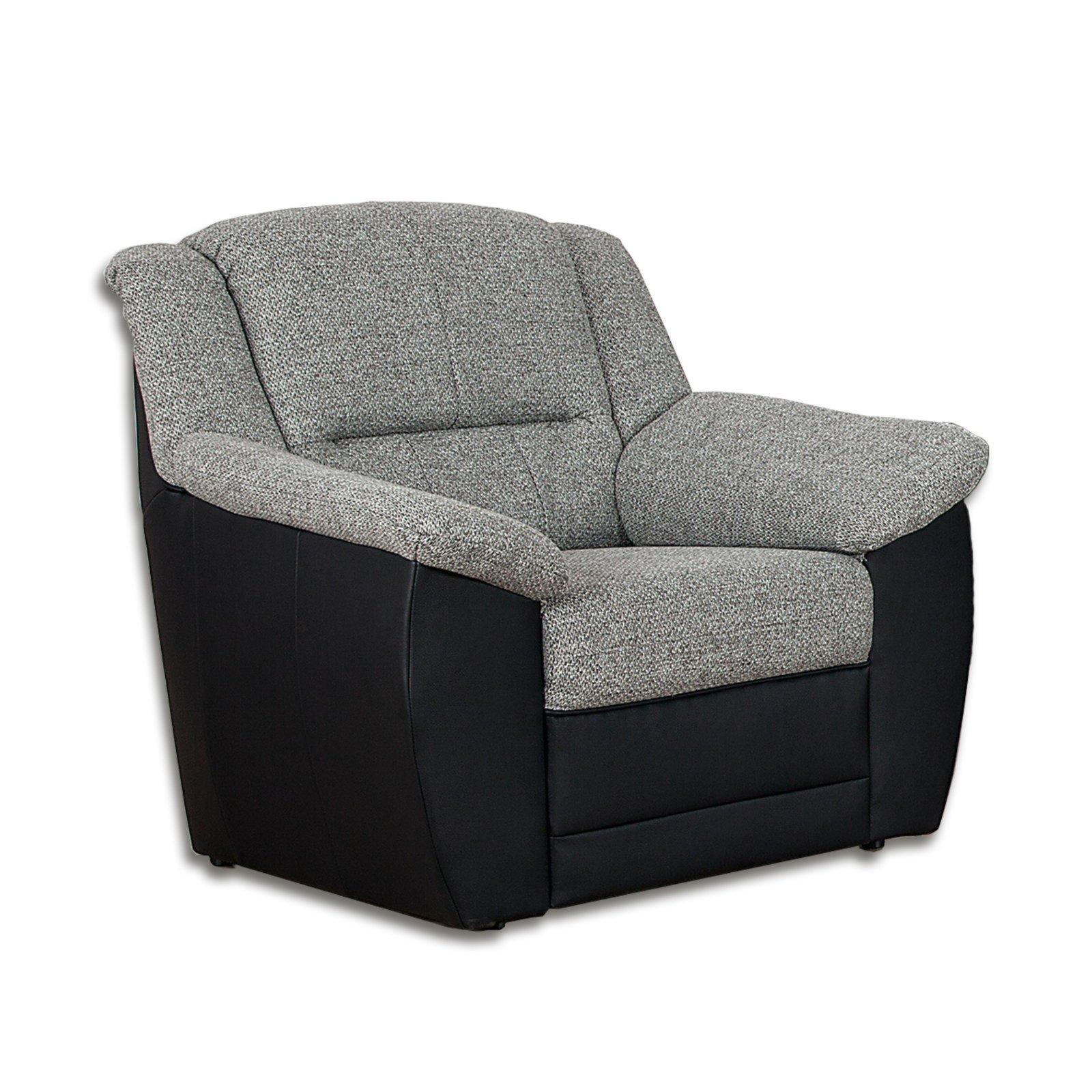 roller sessel grau schwarz kunstleder. Black Bedroom Furniture Sets. Home Design Ideas