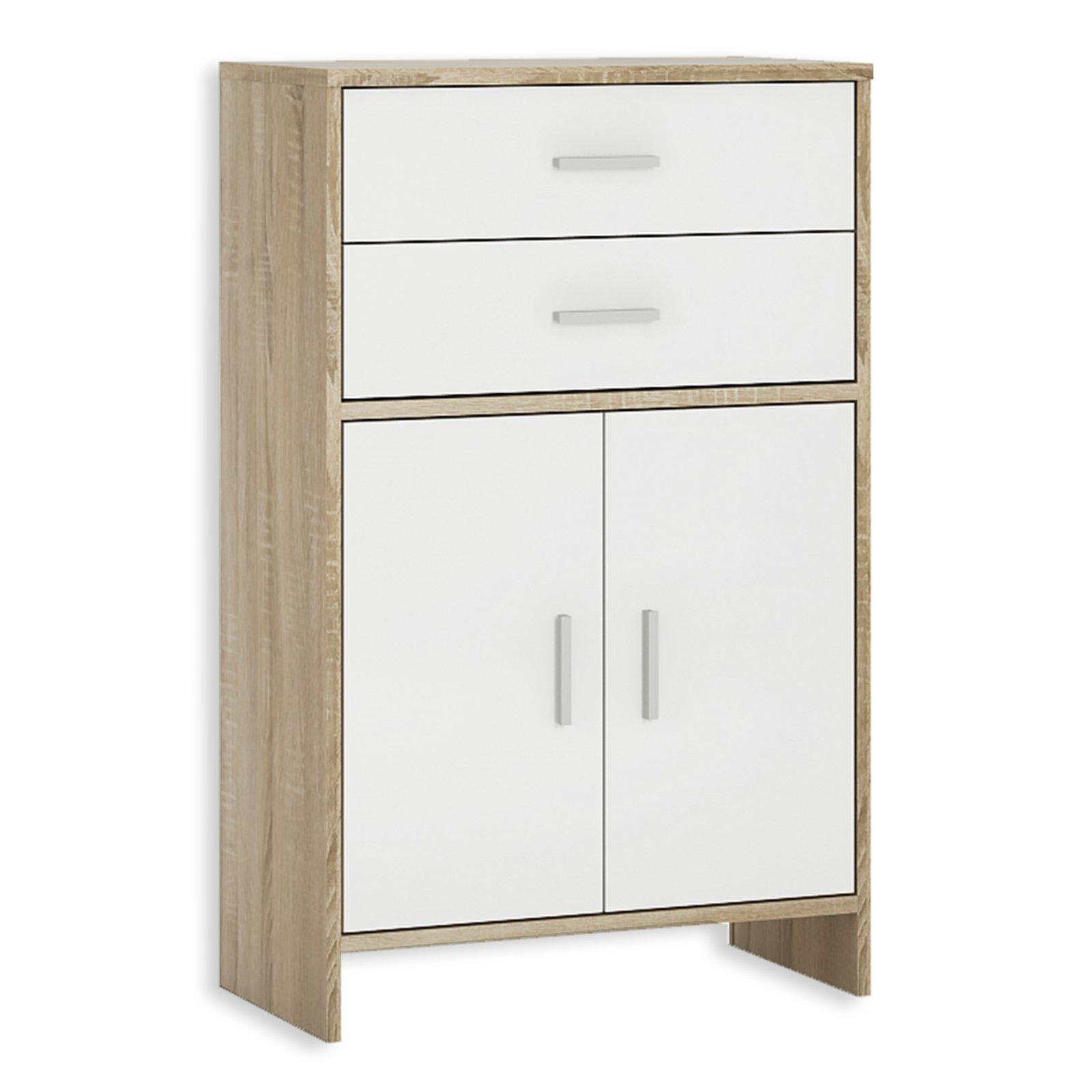 unterschrank lilly wei sonoma eiche 2 schubk sten 61 cm badezimmer hoch midischr nke. Black Bedroom Furniture Sets. Home Design Ideas