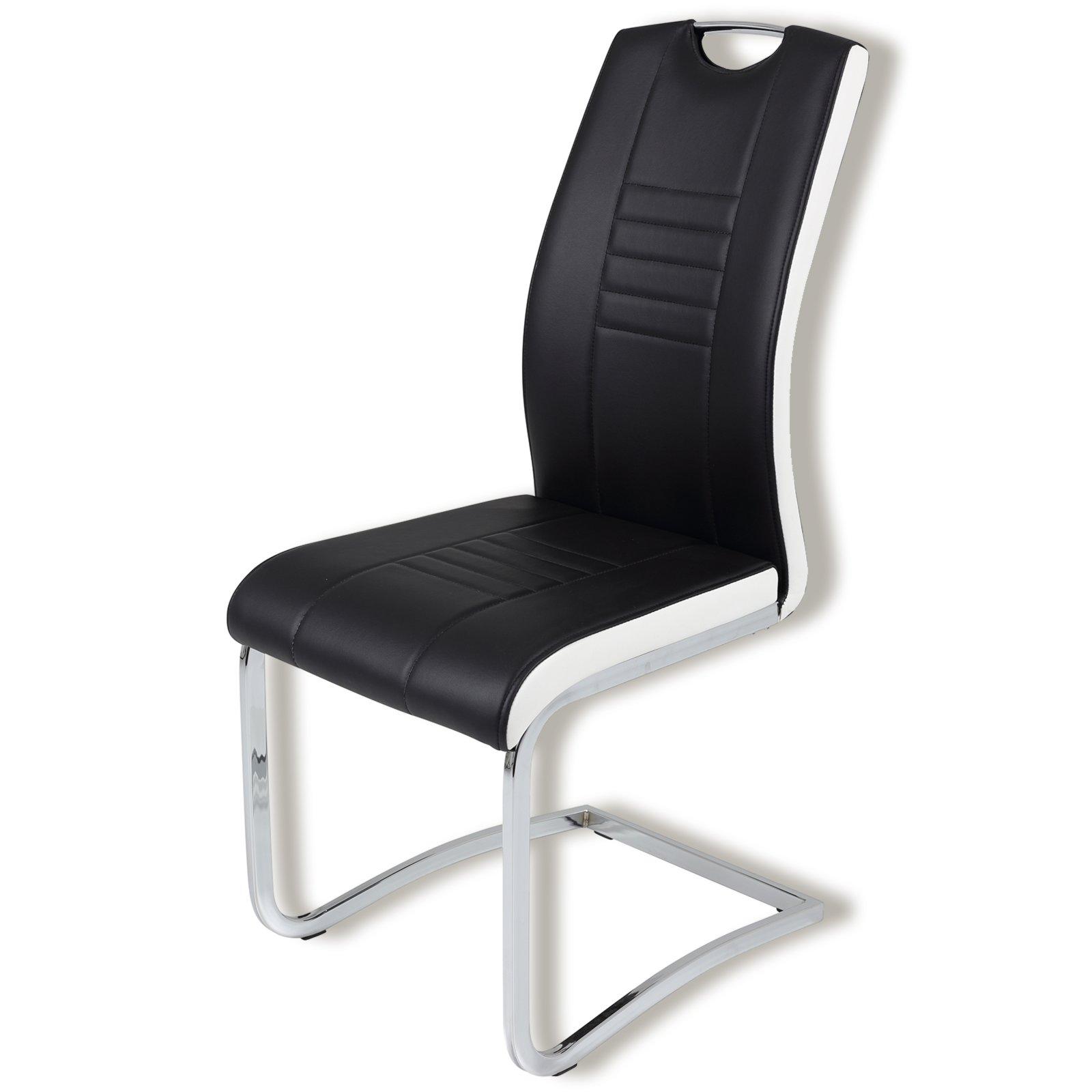 schwingstuhl tabea s schwarz wei kunstleder. Black Bedroom Furniture Sets. Home Design Ideas