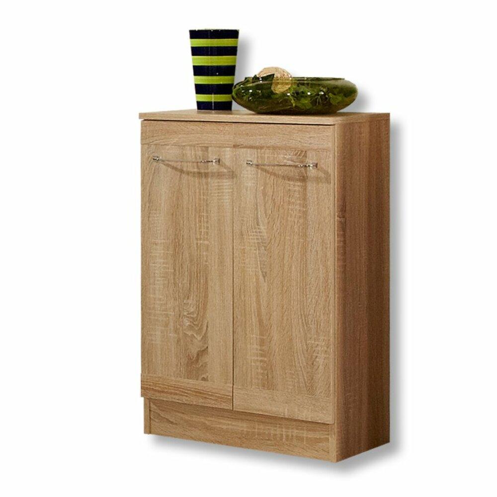 unterschrank luanda eiche natur 2 t ren badezimmer hoch midischr nke badm bel. Black Bedroom Furniture Sets. Home Design Ideas