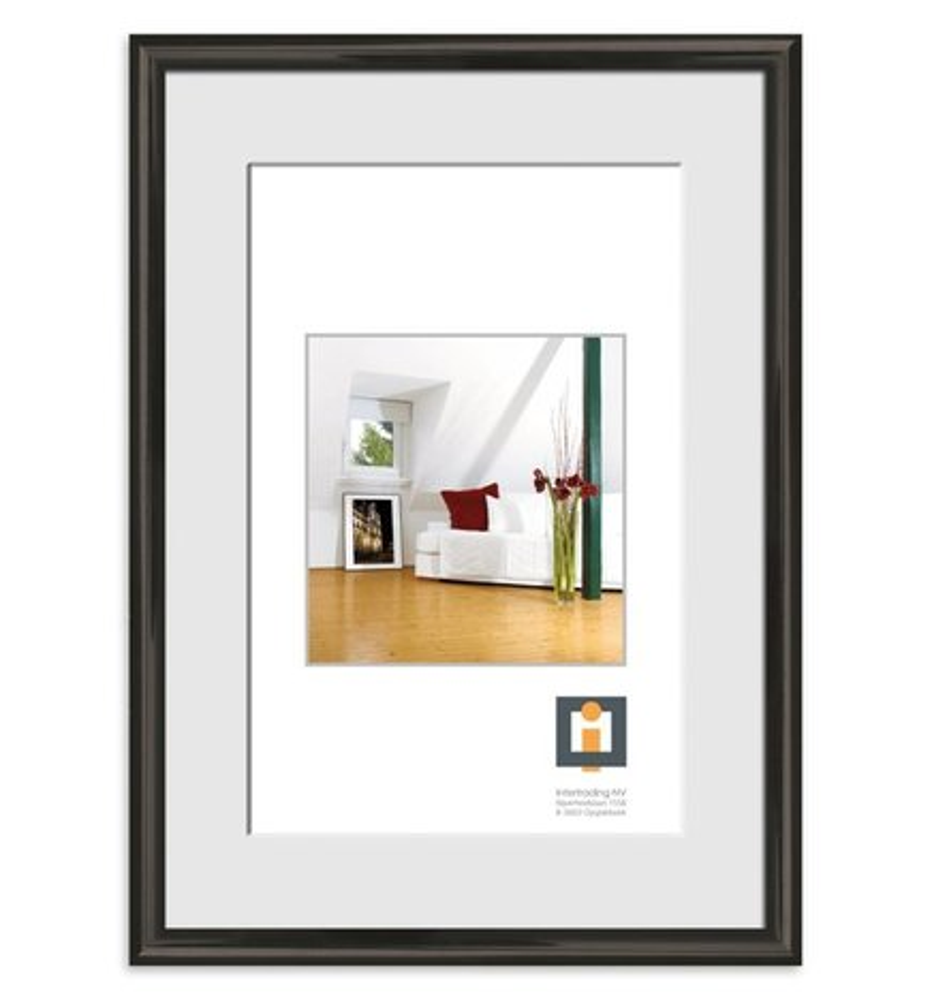 bilderrahmen schwarz kunststoff 50x70 cm online. Black Bedroom Furniture Sets. Home Design Ideas