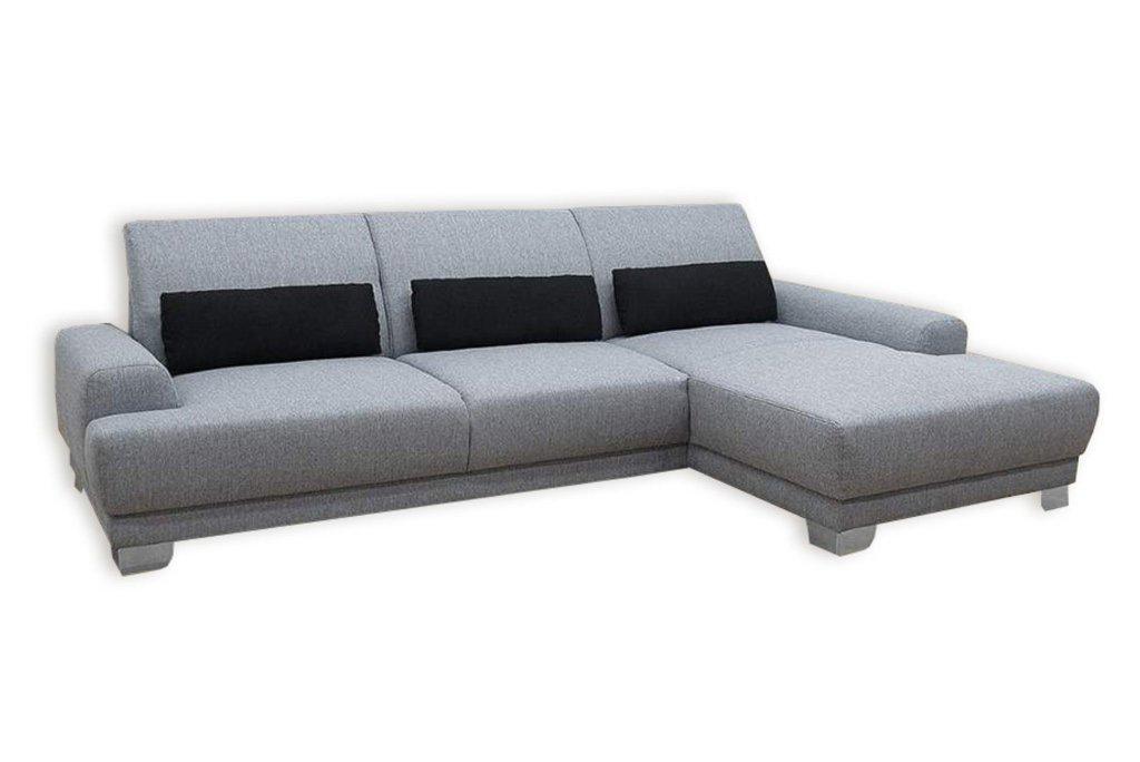 boxspringsofa silber grau recamiere rechts ecksofas. Black Bedroom Furniture Sets. Home Design Ideas
