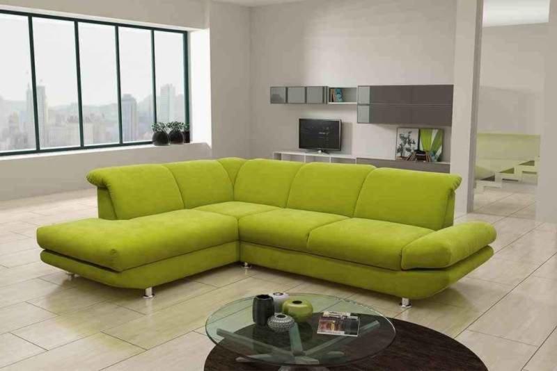 ecksofa gelb gr n recamiere links mit funktionen. Black Bedroom Furniture Sets. Home Design Ideas