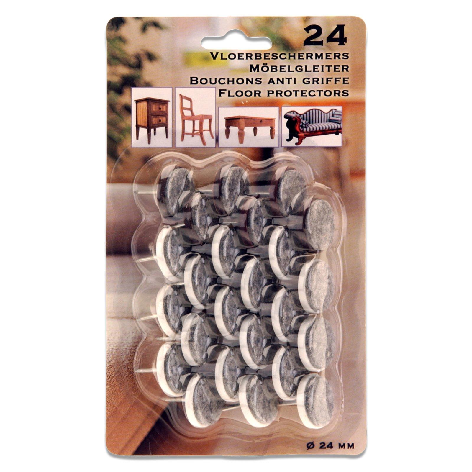 Rutschstopper - grau - 24 Stück