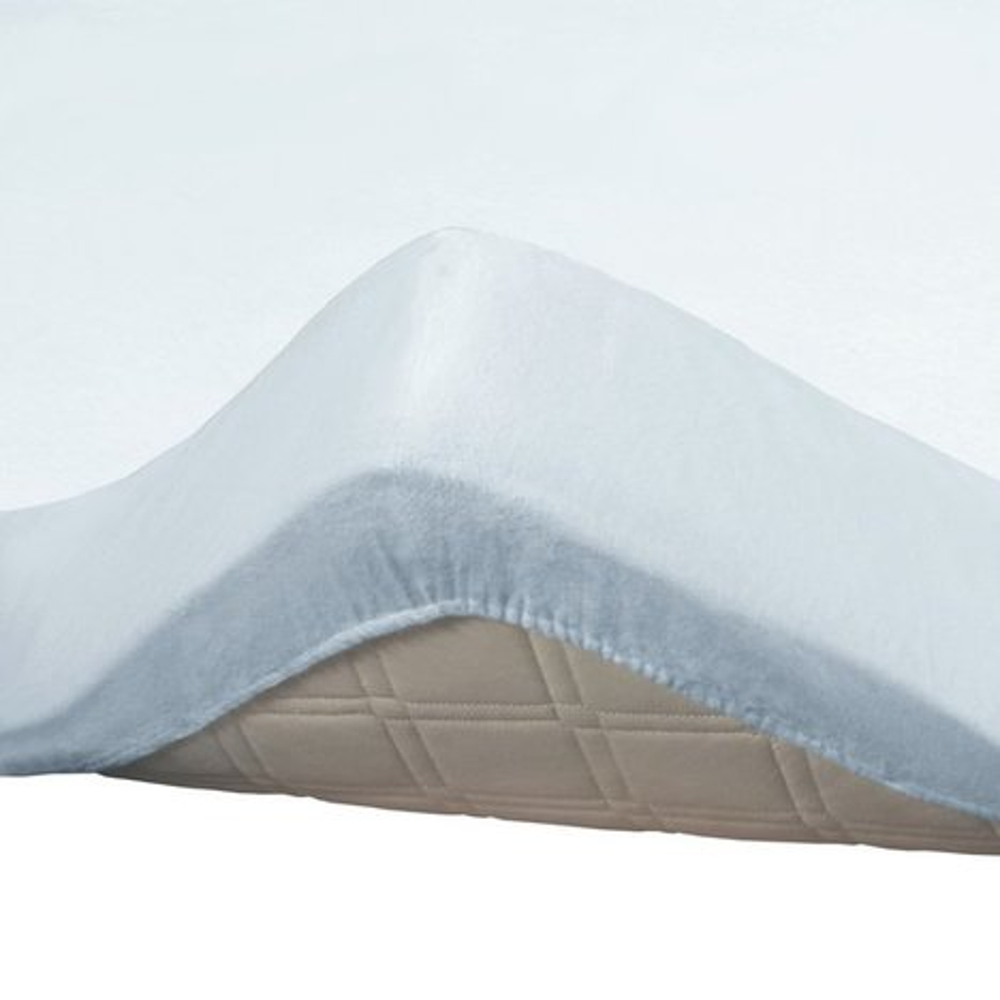 molton topper spannbettlaken wei 90x190 100x200 cm. Black Bedroom Furniture Sets. Home Design Ideas
