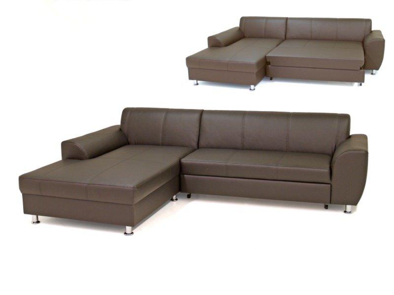 ecksofa dunkelbraun recamiere links liegefunktion. Black Bedroom Furniture Sets. Home Design Ideas