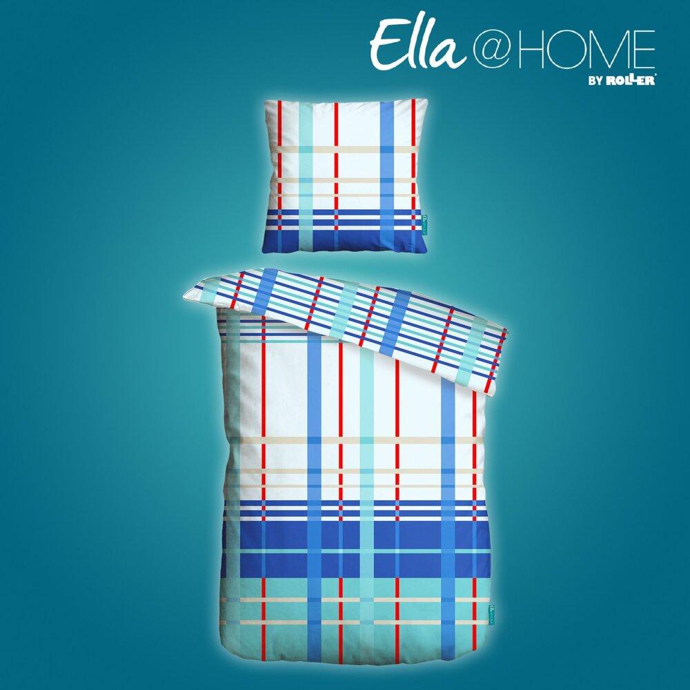 microfaser bettw sche blau rot 135x200 cm ella home wohnbereiche roller m belhaus. Black Bedroom Furniture Sets. Home Design Ideas
