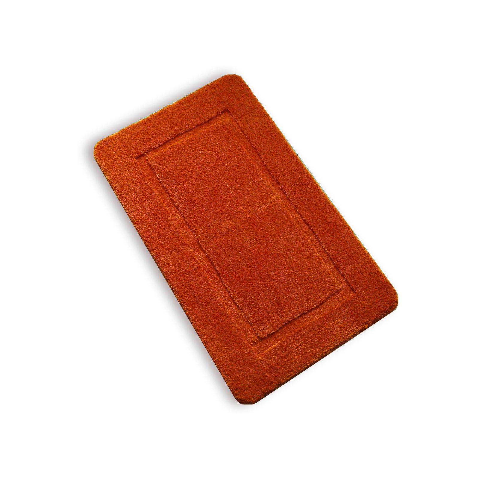 badteppich terra orange 60x100 cm badteppiche matten badtextilien heimtextilien. Black Bedroom Furniture Sets. Home Design Ideas