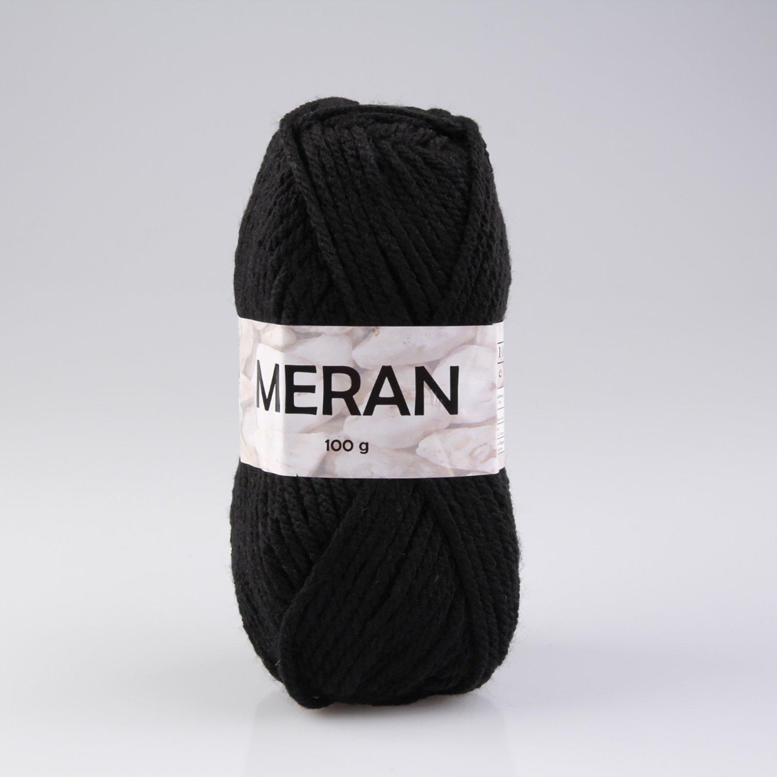 Wolle MERAN - schwarz - 100g